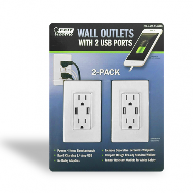 Tomacorrientes de pared con usb